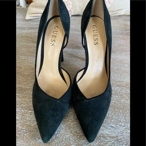 Guess Black Suede Pumps